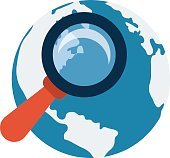 Globe Search Vector Icon