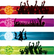 Disco party banners