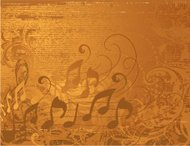 Musical Grunge Background treble clef and music notes