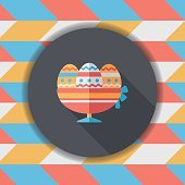 easter egg flat icon with long shadow,eps10