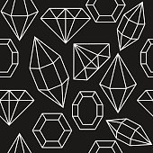 Diamond gem shape seamless pattern