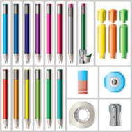 Pencils,Pencil Sharpener,Erasers,Tape,Highlighters