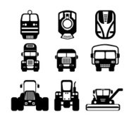 Transport and truck icon