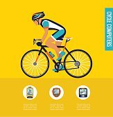 gps computers and apps for bike or cycling . infographics