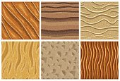 Set of sand seamless pattern