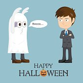 Fail Businessman Ghost At Halloween Day