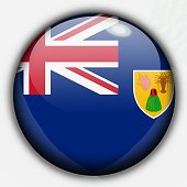 Shine button flag - turks and caicos islands