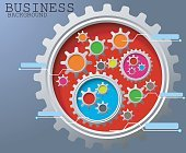 Business background of Gears infographic background