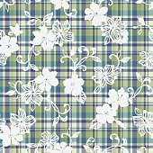 flower and checked pattern