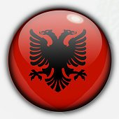 Shine button flag - Albania