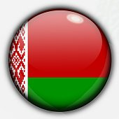 Shine button flag - Belarus