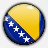 Shine button flag - Bosnia and Herzegovina