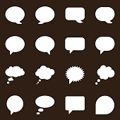 Speech Bubbles Icons-Brown Series