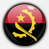 Shine button flag - Angola