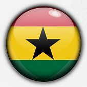 Shine button flag - Ghana