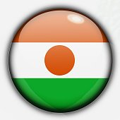 Shine button flag - Niger