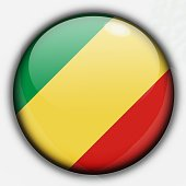 Shine button flag - Republic of Congo