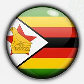 Shine button flag - Zimbabwe