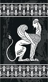 Vector Ancient Greek Sphinx