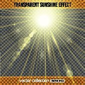 Sunshine effect over transparent background.