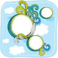 Doodle Circle and Swirl Design Elements