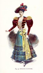 Young Woman in Traditional  Spanish Costume