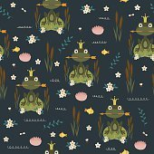 Frog seamles pattern