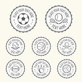 Set of various sport badge, label, emblem, icon in vector