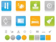 Colorful Education Icons