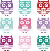 Cute Owl Silhouette Collections