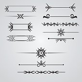 Collection of hand drawn vintage frames for text decoration