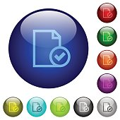 Color document accepted glass buttons