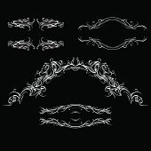 decorative elements in vintage style for decoration layout, framing,vector