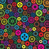 Colorfull gears background