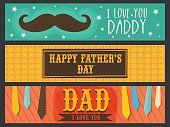 Website header or banner set for Father's Day.