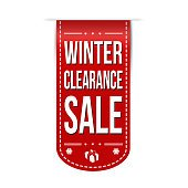 Winter clearance sale banner design
