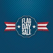 Flag Day Sale Banner with Text and Shadow