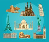 High quality, detailed World landmarks