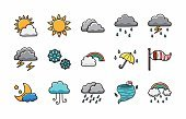 Weather icons set,eps10