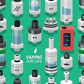 seamless vector background vaping atomizer electronic cigarette