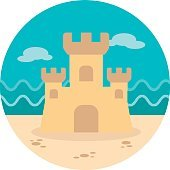 Sand Castle icon. Summer. Vacation
