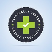 Clinically tested stamp.