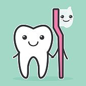 Tooth and toothbrush are best friends.