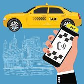 Mobile app for booking taxi service.