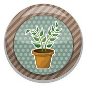 Indoor plant colorful icon