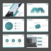 Blue Abstract presentation templates, Infographic elements template flat design