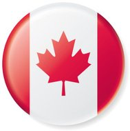 Canadian Flag Satin Button