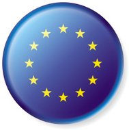 European Union Flag Satin Button