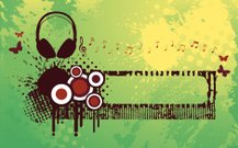 Headphone Funky Banner