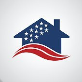 American house stars and stripes